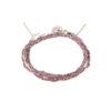 Bracelet 3 tours tressé fil rose et argent massif Jazz Natacha Audier Paris