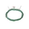 Bracelet 3 tours tressé fil vert et argent massif Jazz Natacha Audier Paris