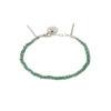 Bracelet tressé fil vert et argent massif Jazz Natacha Audier Paris