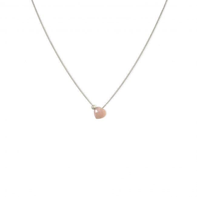Collier coeur opale et argent massif Lady Jane Natacha Audier Paris