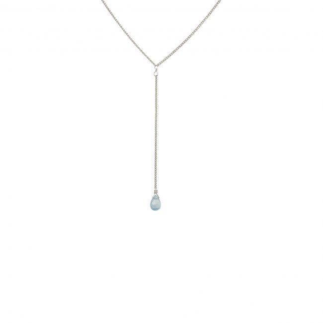 Ras du cou onyx bleu et argent massif Lady Jane Natacha Audier Paris