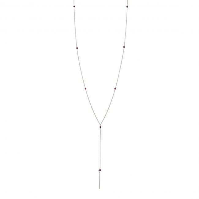 Collier grenat et argent massif My first Natacha Audier Paris
