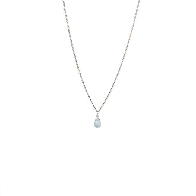 Collier onyx bleu et argent massif Lady Jane Natacha Audier Paris