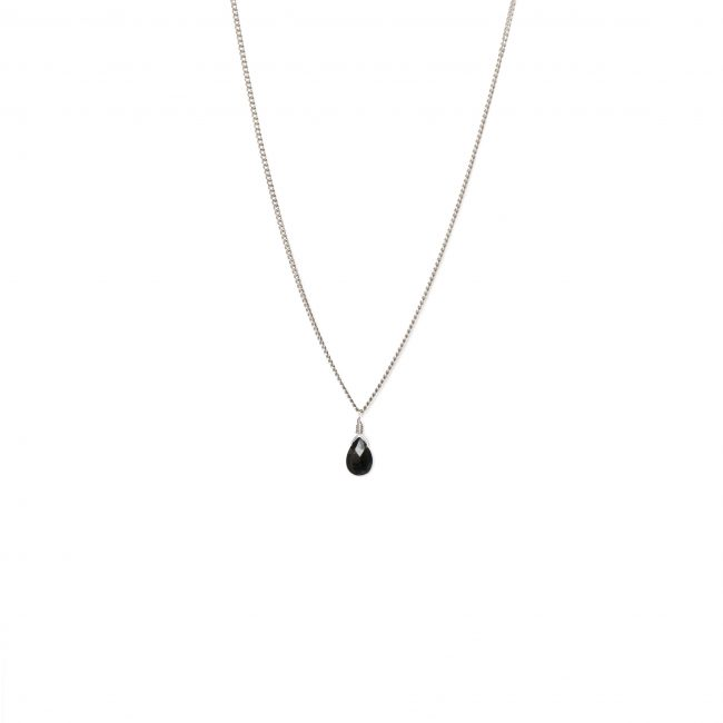 Collier onyx noir et argent massif Lady Jane Natacha Audier Paris