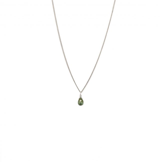 Collier tourmaline verte et argent massif Lady Jane Natacha Audier Paris