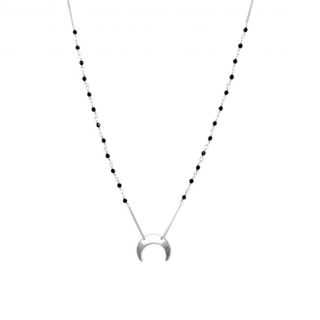Collier spinelle et argent massif Mezza luna Natacha Audier Paris
