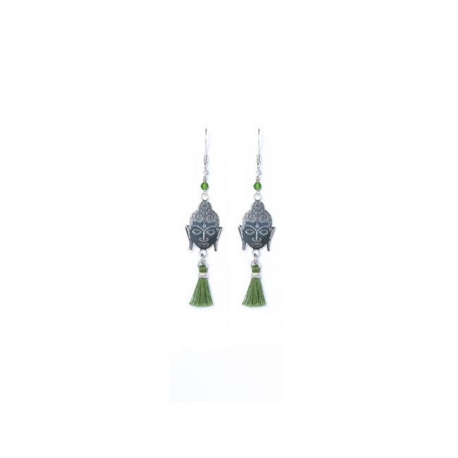 B.O bouddha en argent massif et agate verte Natacha Audier Paris