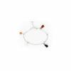 Bracelet charms en argent massif et cornaline Natacha Audier Paris