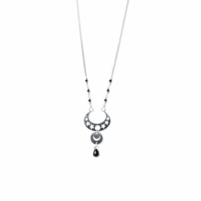 Collier spinelle et argent massif Constellation Natacha Audier Paris