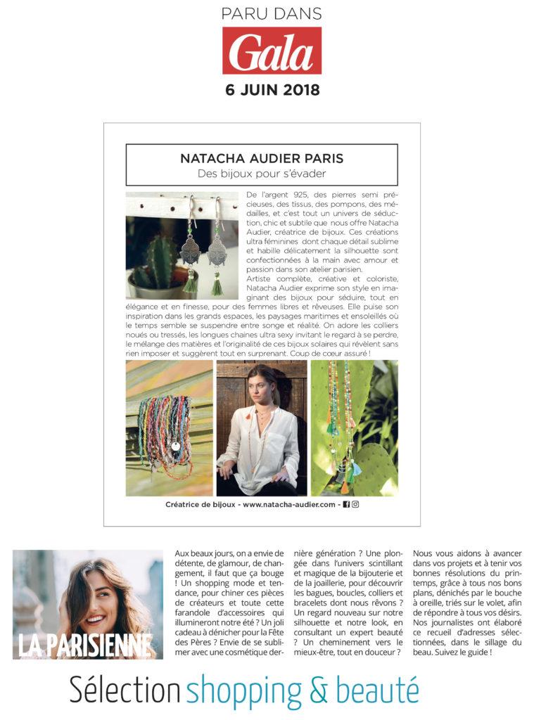 Sélection shopping Gala Natacha Audier Paris