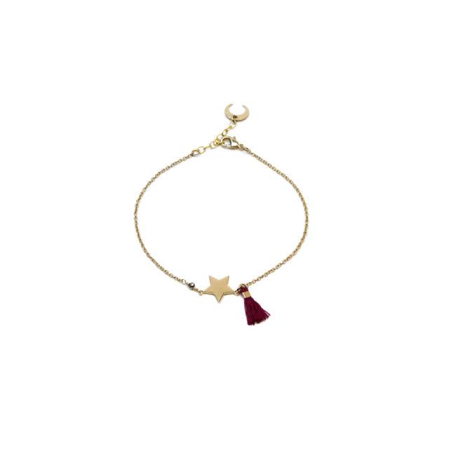 Bracelet étoile doré or fin 24K et pyrite Natacha Audier Paris