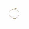 Bracelet cauri doré or fin 24K et grenat Natacha Audier Paris
