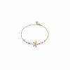 Bracelet libellule doré or fin 24K et grenat Natacha Audier Paris