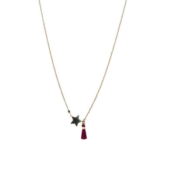 Collier étoile doré or fin 24K et pyrite Natacha Audier Paris