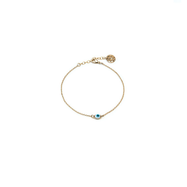 Bracelet oeil doré or fin 24K Natacha Audier Paris