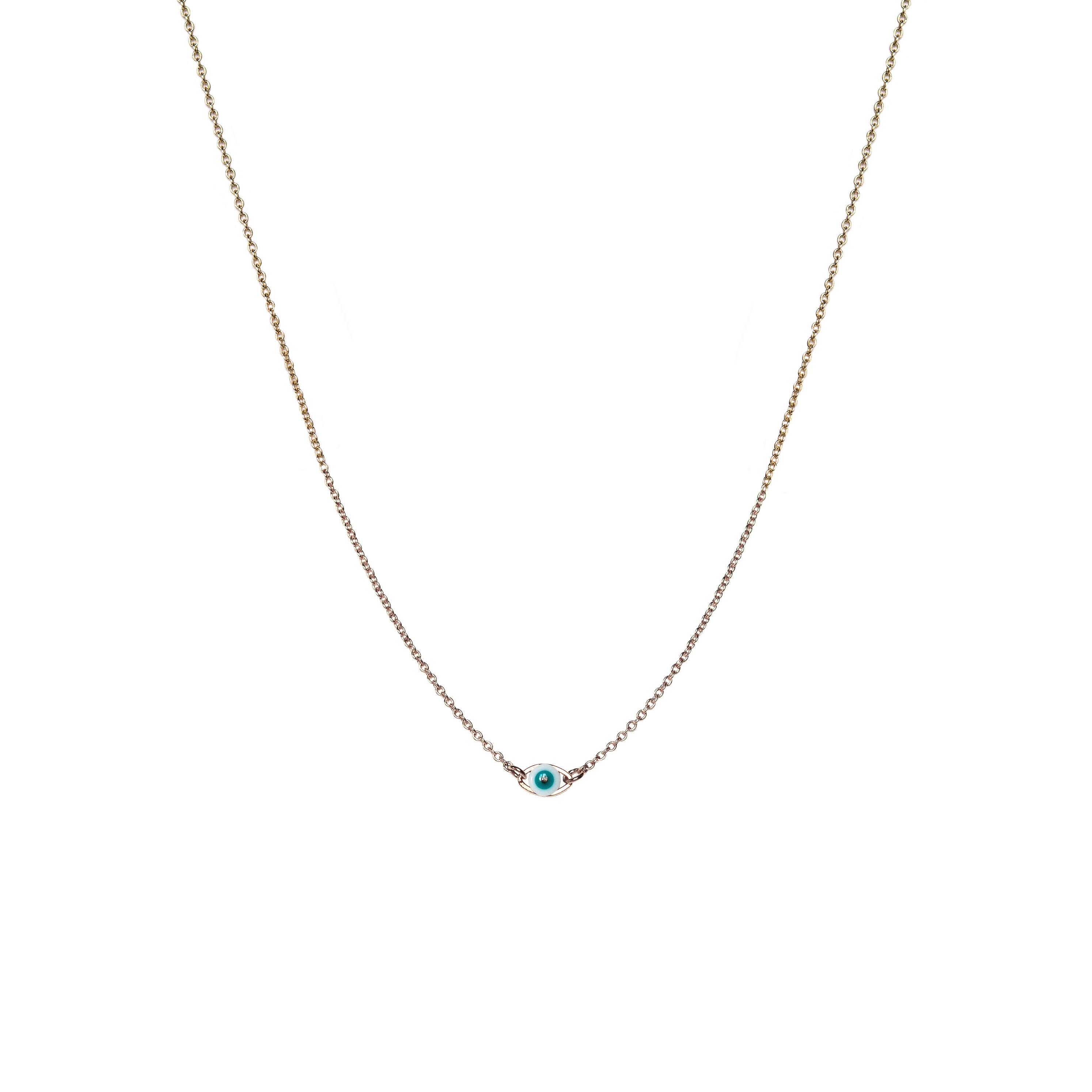 nouveau style de prix attractif beau lustre Collier oeil doré or fin 24 carats