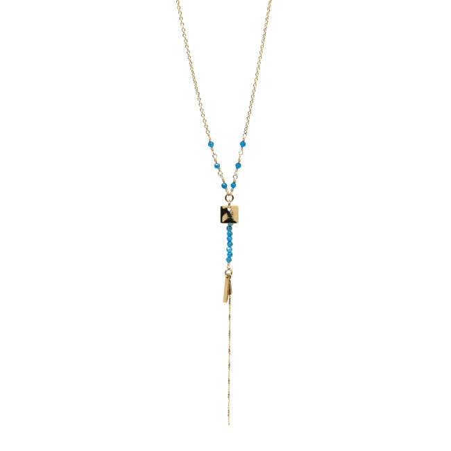 Collier Gina doré or fin 24K et apatite Natacha Audier Paris
