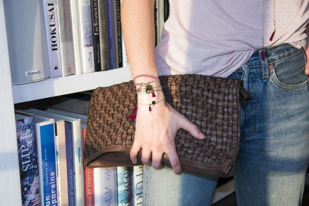 Bracelets étoile doré or fin 24 kt et pyrite Natacha Audier Paris