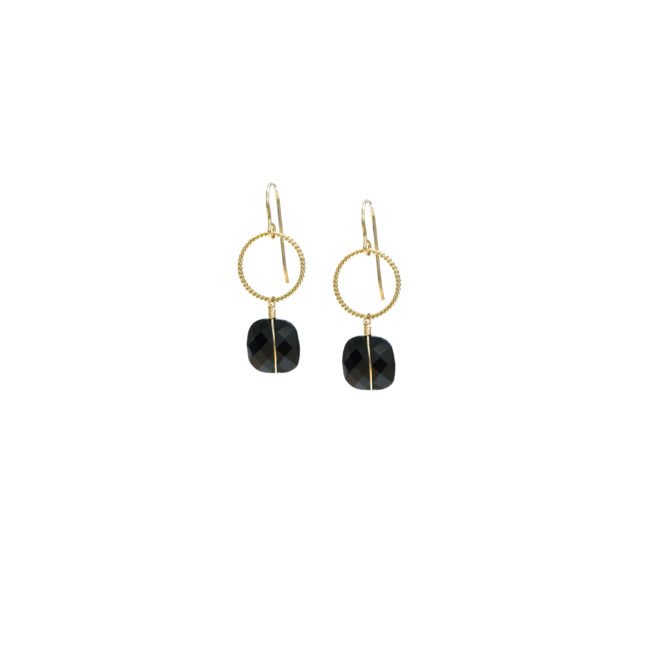 BO crochet Diane en onyx et gold-filled 14k Natacha Audier Paris