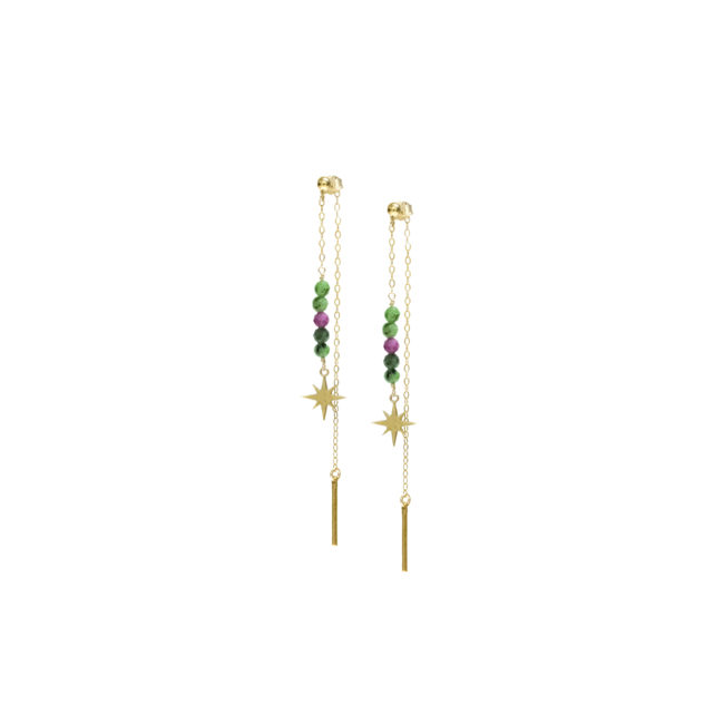 BO clou double zoisite et gold-filled 14k Natacha Audier Paris