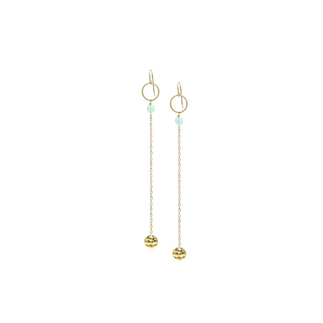 BO longues Eden chrysoprase et gold-filled 14k Natacha Audier Paris