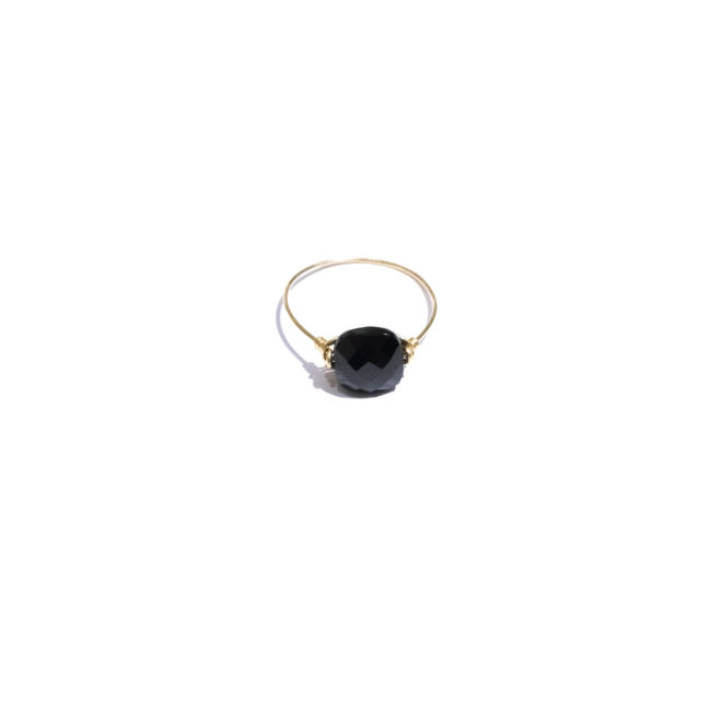 Bague Diane en onyx et gold-filled 14k Natacha Audier Paris