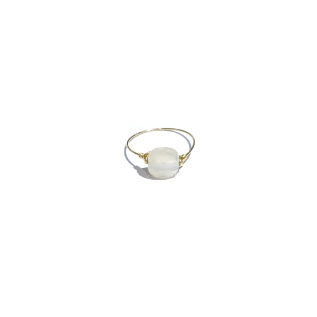 Bague Diane pierre de lune et gold-filled 14k Natacha Audier Paris