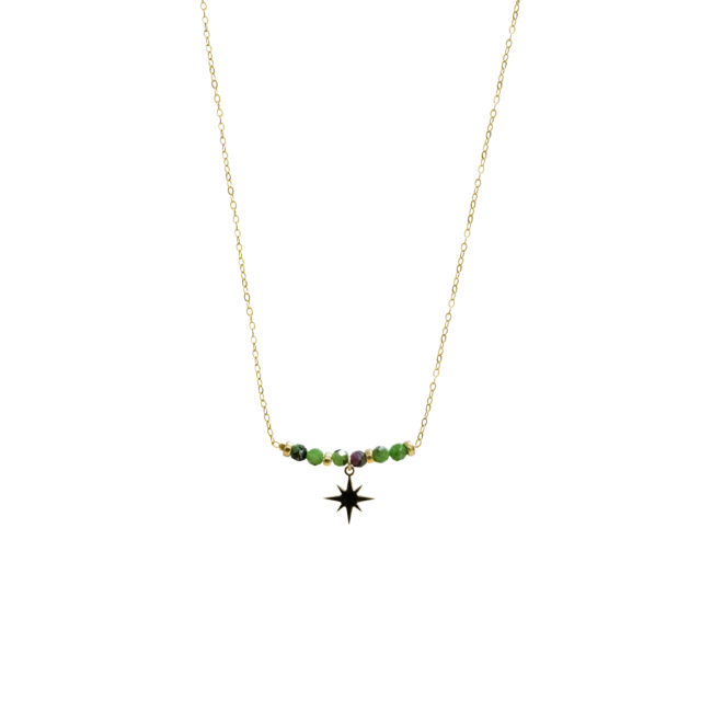 Collier étoile zoisite et gold-filled 14K Natacha Audier Paris