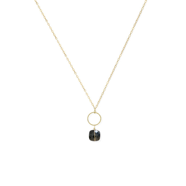 Collier Diane en onyx et gold-filled 14k Natacha Audier Paris