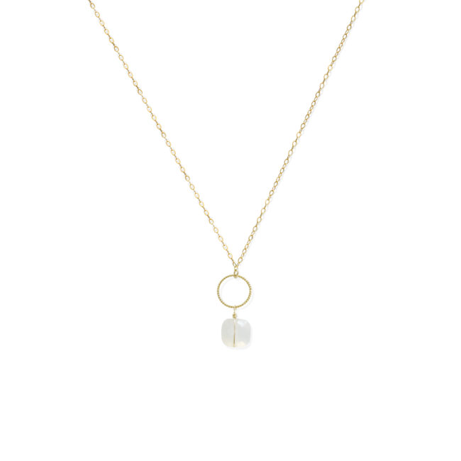 Collier Diane pierre de lune et gold-filled 14k. Natacha Audier Paris