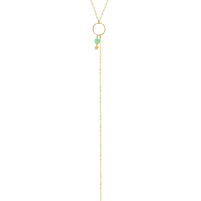 Collier Eden chrysoprase et gold-filled 14k Natacha Audier Paris