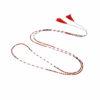 Collier de fil réglable miyuki rouge Natacha Audier Paris