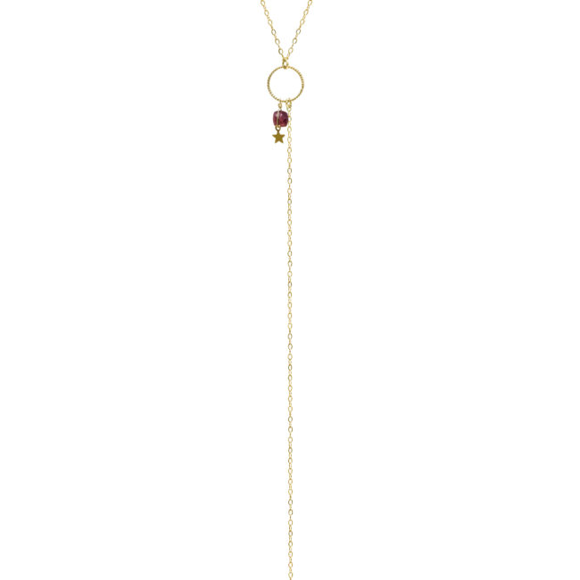 Collier Eden grenat et gold-filled 14k Natacha Audier Paris