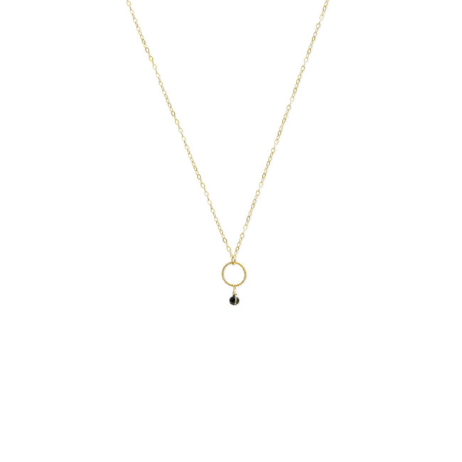 Collier mini Diane en spinelle et gold-filled 14k Natacha Audier Paris