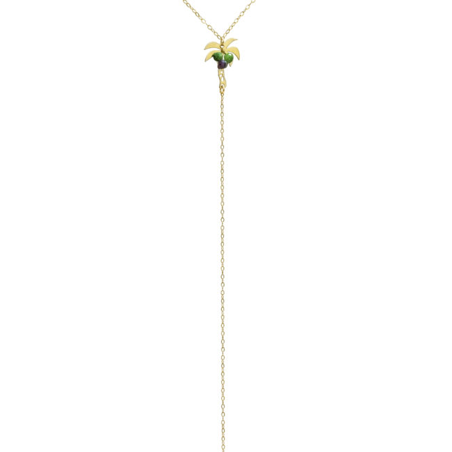 Collier palmier zoisite et gold-filled 14K Natacha Audier Paris
