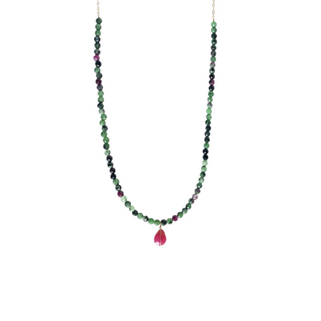 Collier rubis zoisite et gold-filled 14K Natacha Audier Paris