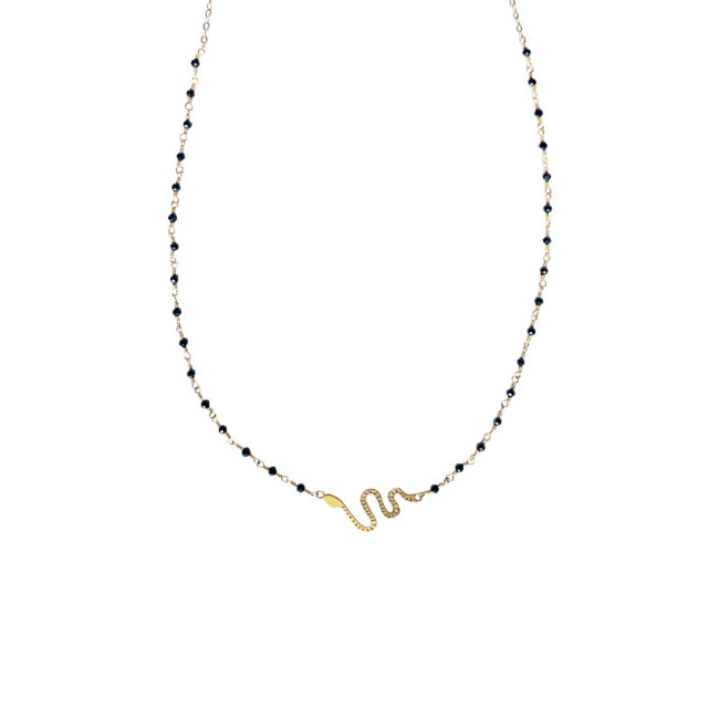 Ras du cou serpent spinelle et gold-filled 14k Natacha Audier Paris