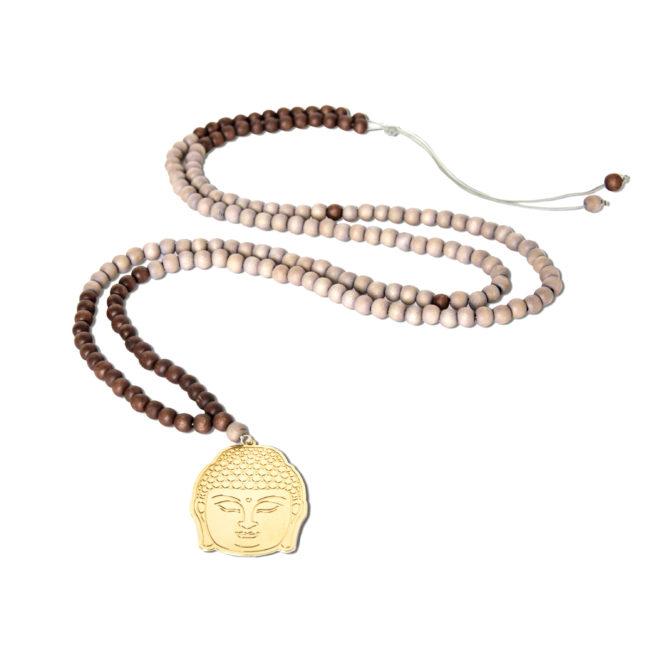 Collier XL bouddha doré or fin 24k Spirit Natacha Audier Paris