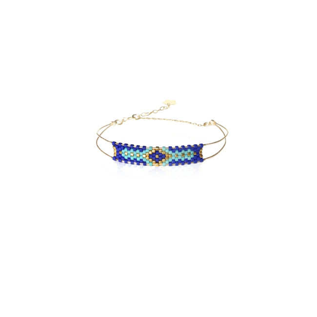 Jonc souple miyuki turquoise et gold-filled 14k Natacha Audier Paris